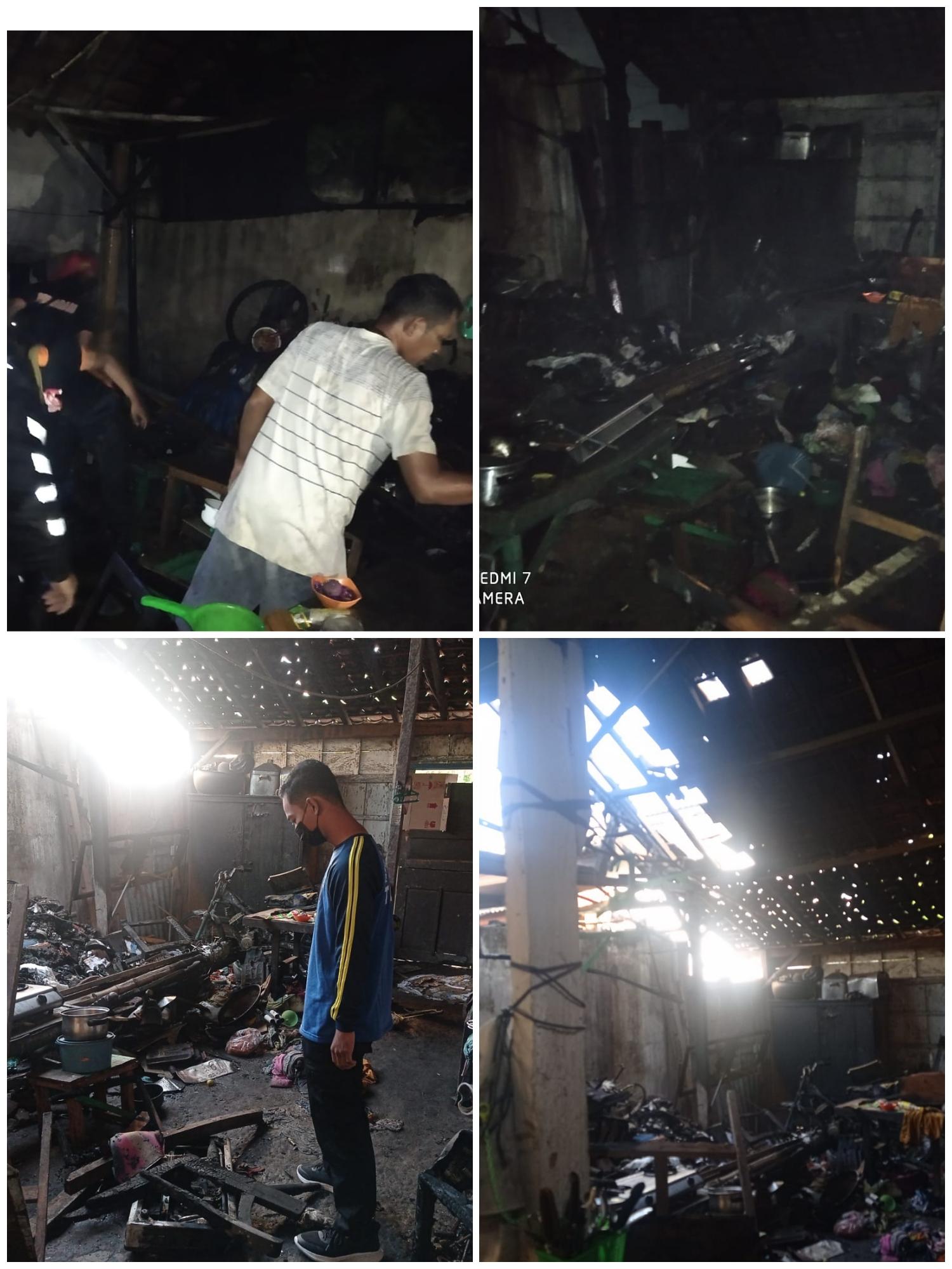 Kebakaran di Situbondo, Tagana Bersihkan Puing Kebakaran dan Lakukan Asesmen