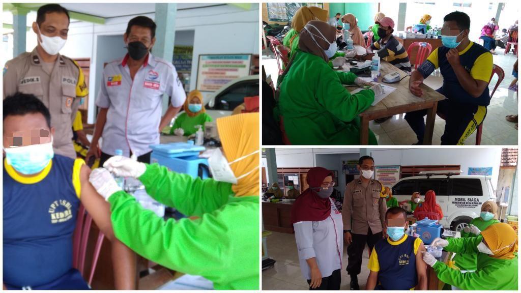 Klien Baru UPT RSBL Kediri Asrama Caruban Jalani Vaksinasi Dosis Kedua