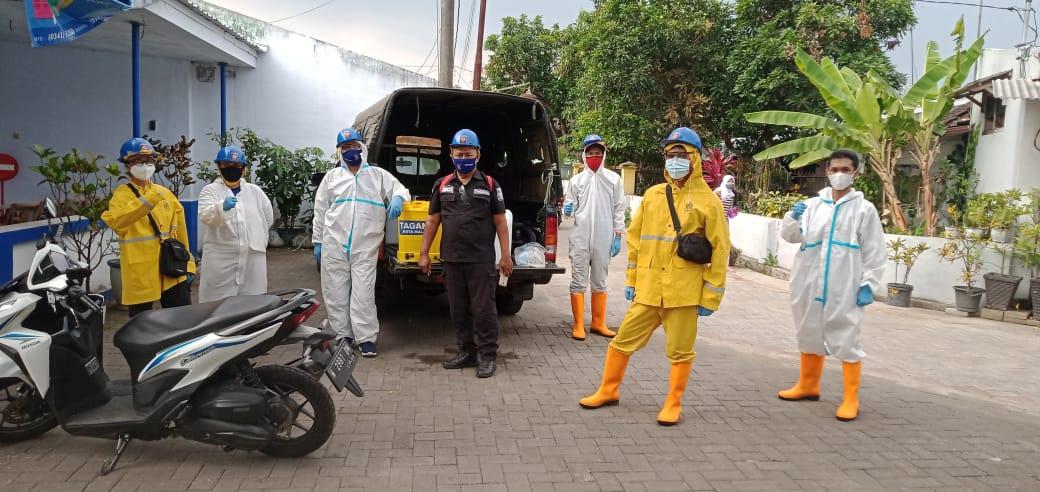 Cegah Sebaran Covid-19, Tagana Kota Malang Disinfeksi Permukiman Warga