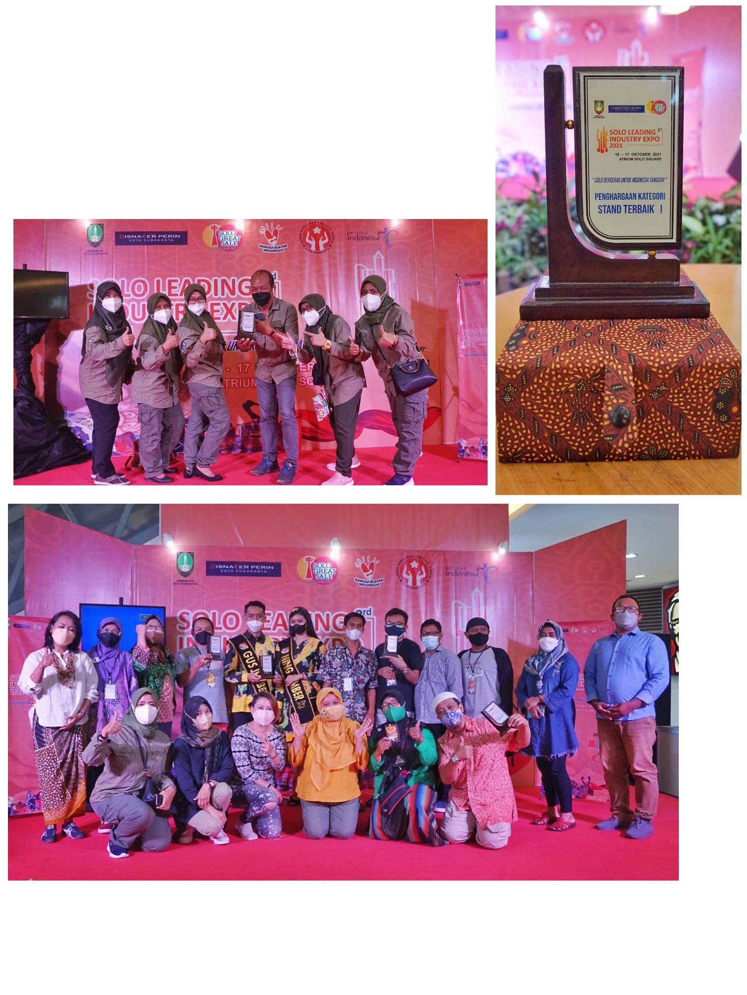 Stand Dinsos Jatim Jadi Stand Terbaik Solo Leading Industry Expo 2021